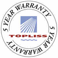 Topliss 5 Year Warranty